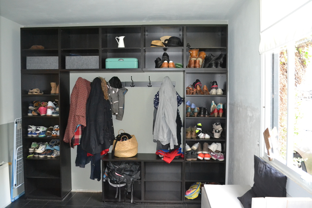 A room for jackets & shoes