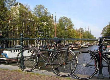 Canal with bikes