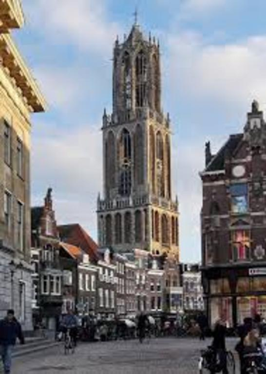 Dom tower at Utrecht 25 km. Utrecht is smaller and just as beautiful as Amsterdam