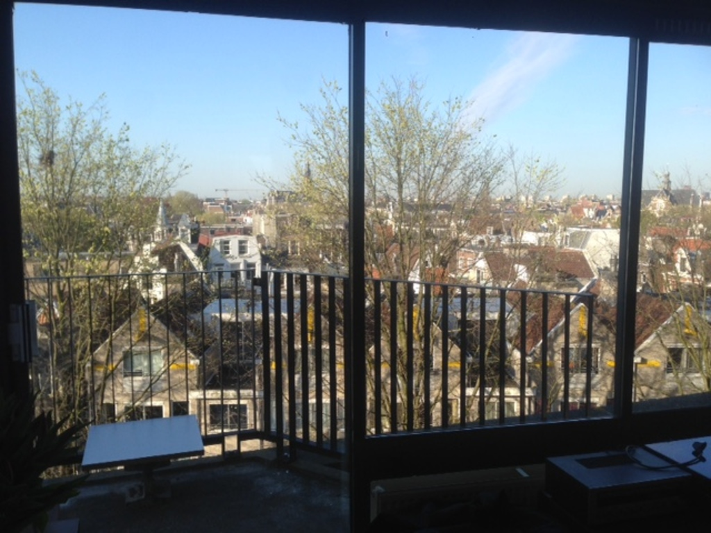 view from the sitting room on old Amsterdam