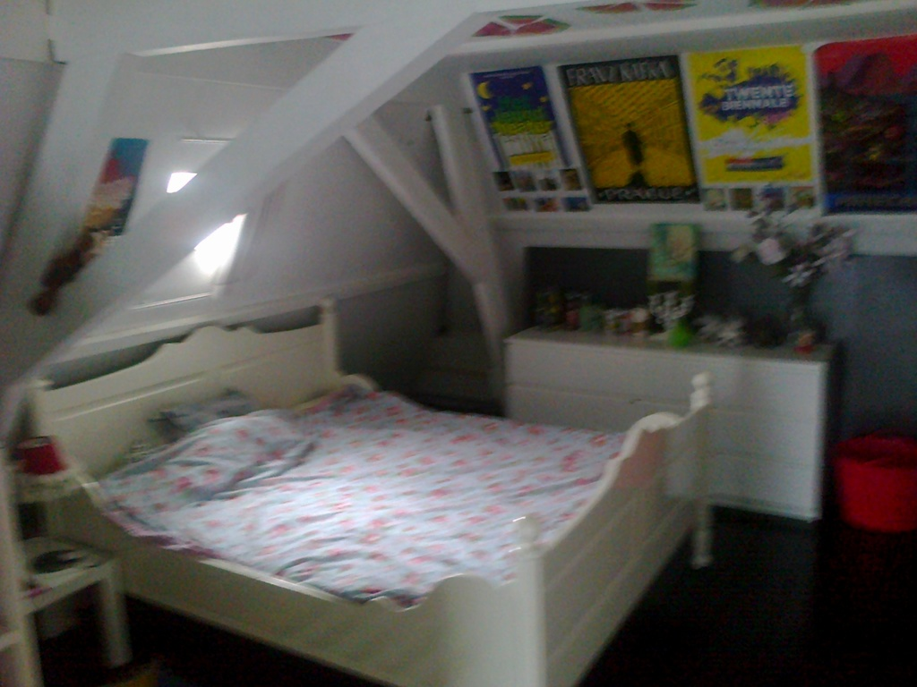 Double bed in Julia's room