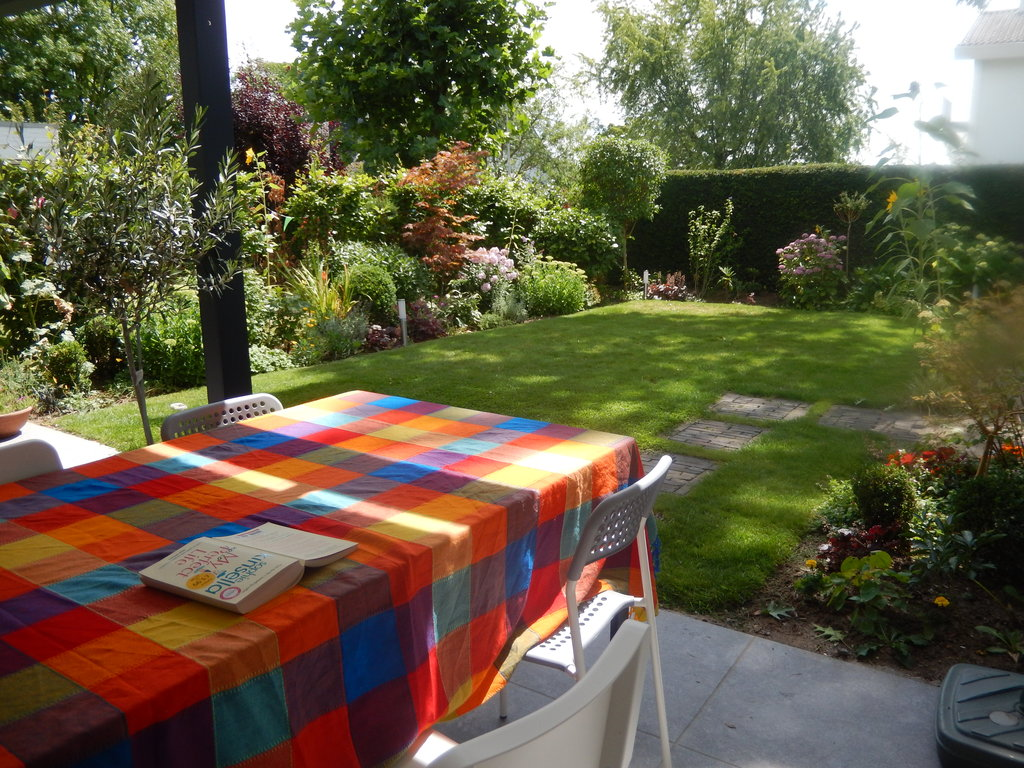 View from our dining table outside (under the conservatory roof)