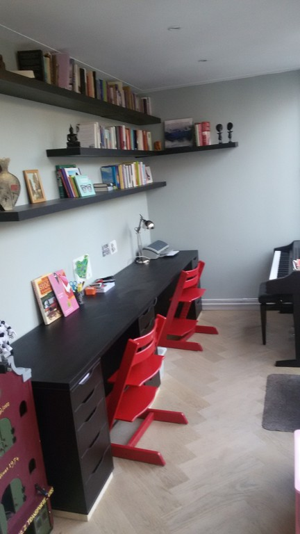 Study and play area in living room