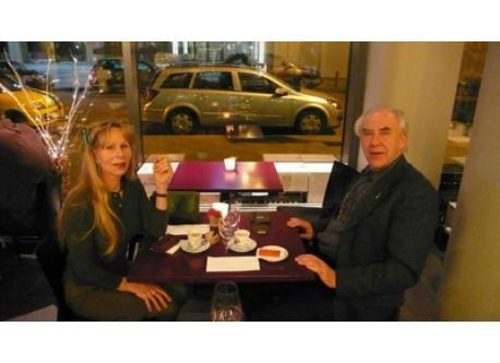 Us in a Italian Restaurant in Frankfurt