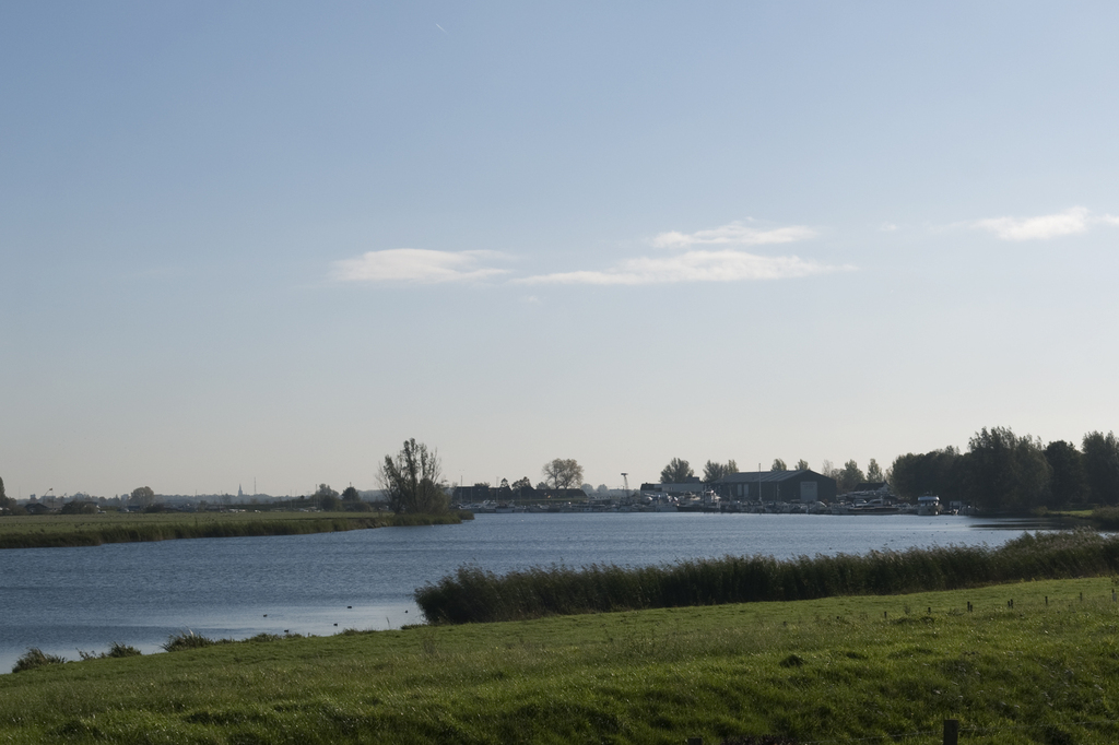 view from the dike on the river Maas