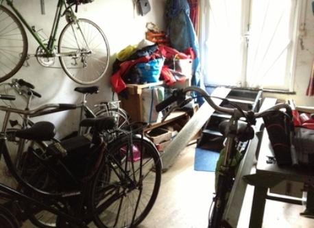 Bicycles inside the house (first floor)