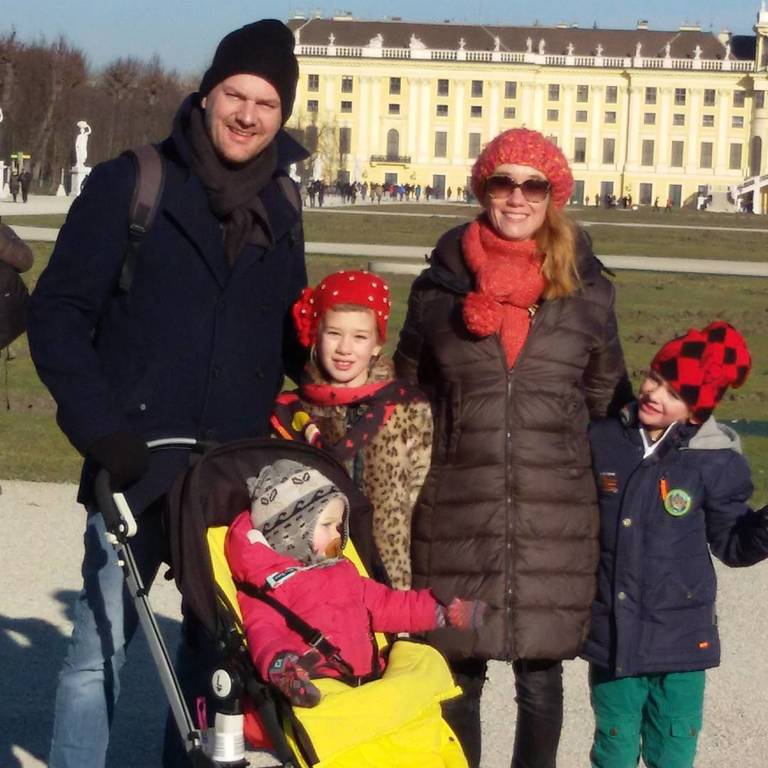 Family at the palace of Sisi during our 2016 exchange in Austria