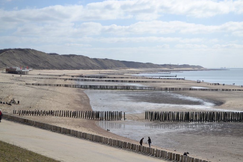 characteristic vieuw of the beach in Zeeland
