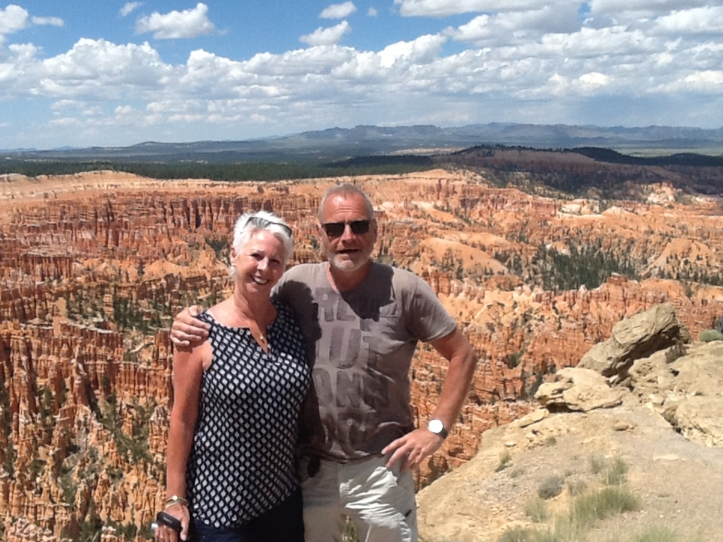 Anita and Jos on holiday in the USA, 2015