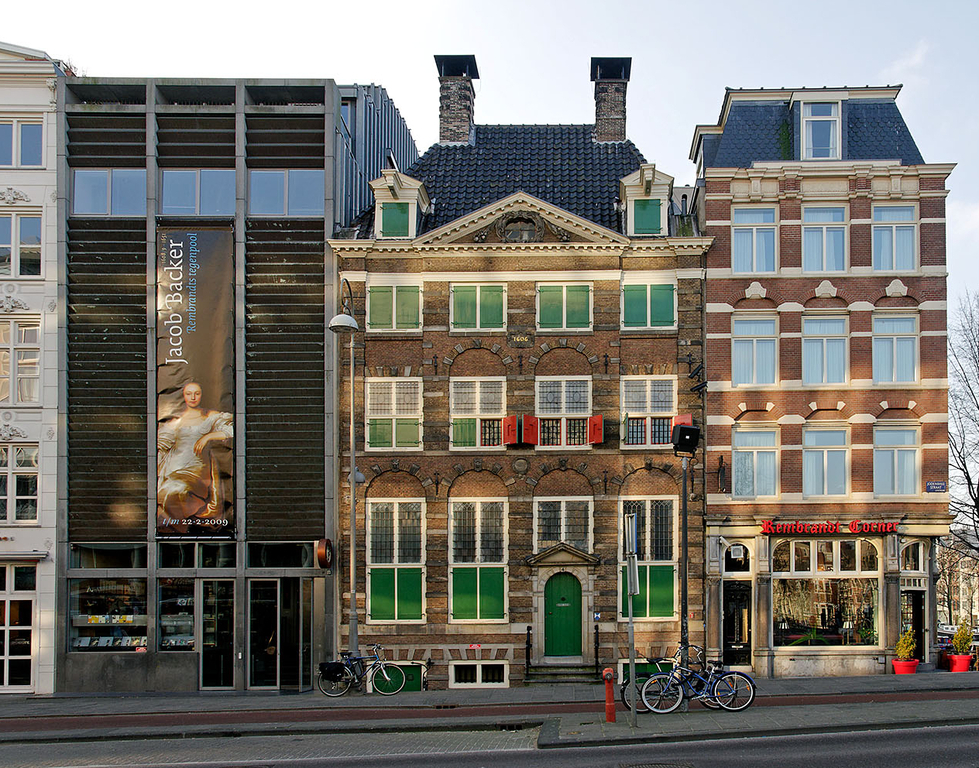 Just around the corner: the house where Rembrandt lived and painted his famous works.