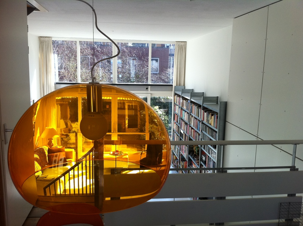 view from study room to living area 2