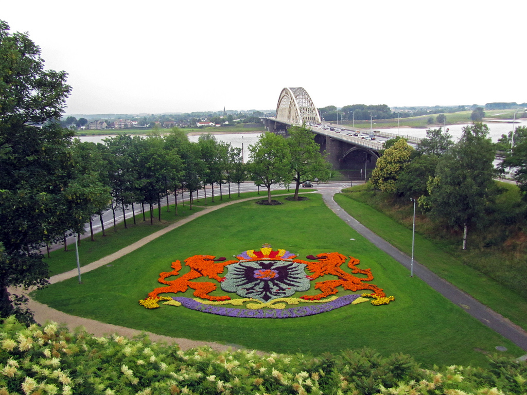 Nijmegen, the Waalbridge and the river Waal