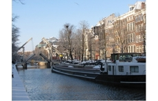 View of canal and house