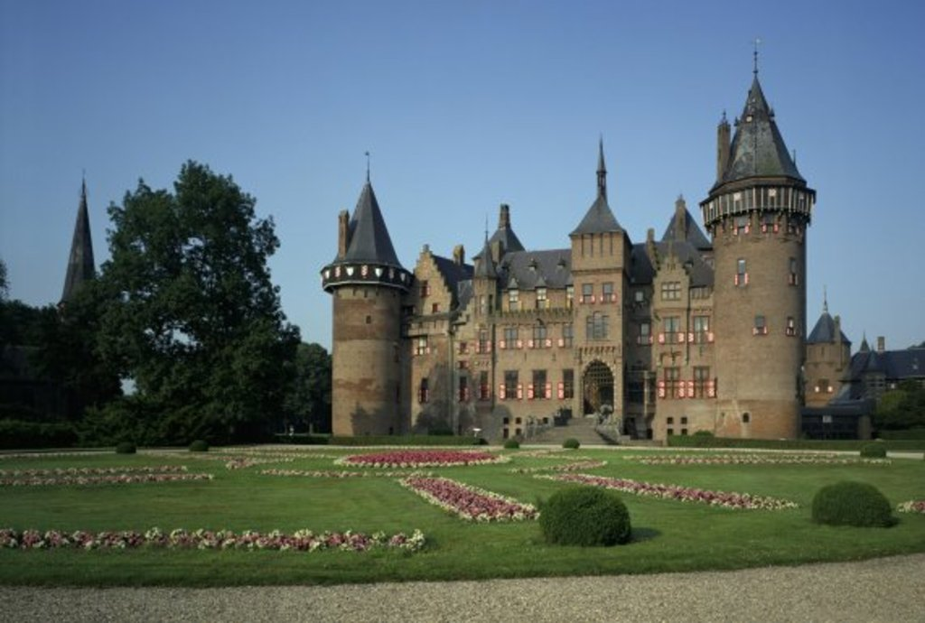 Castle de Haar in the countryside- meadows, forests