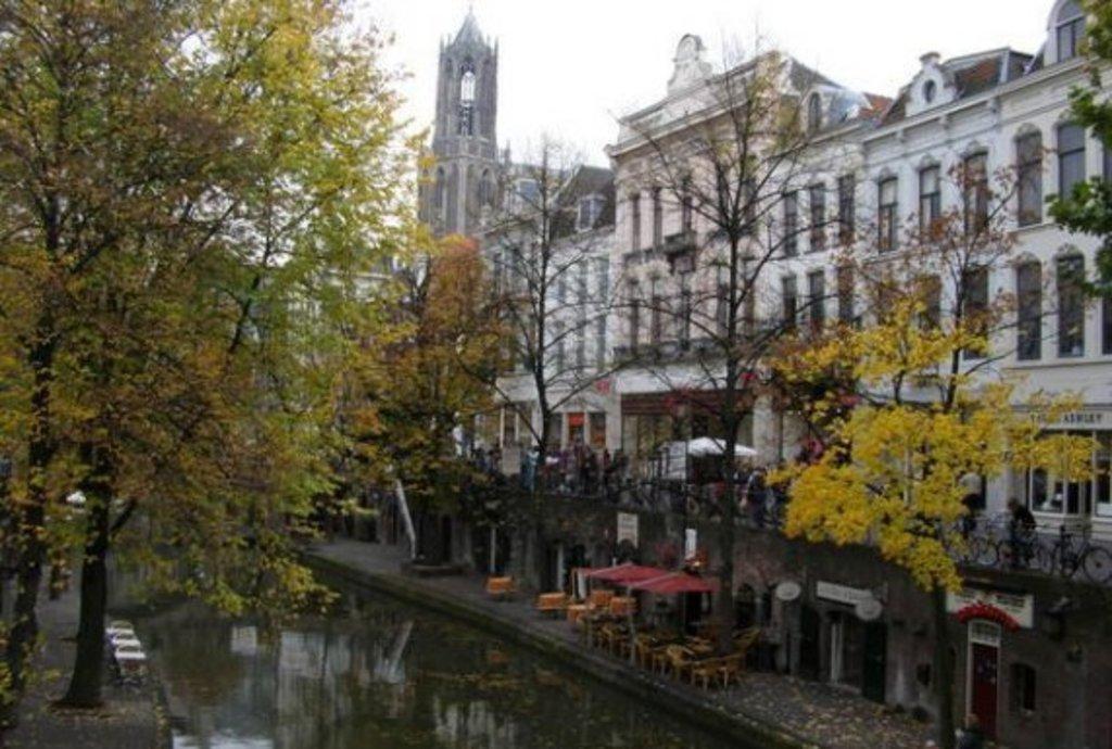 The wharfs at Oude Gracht Utrecht