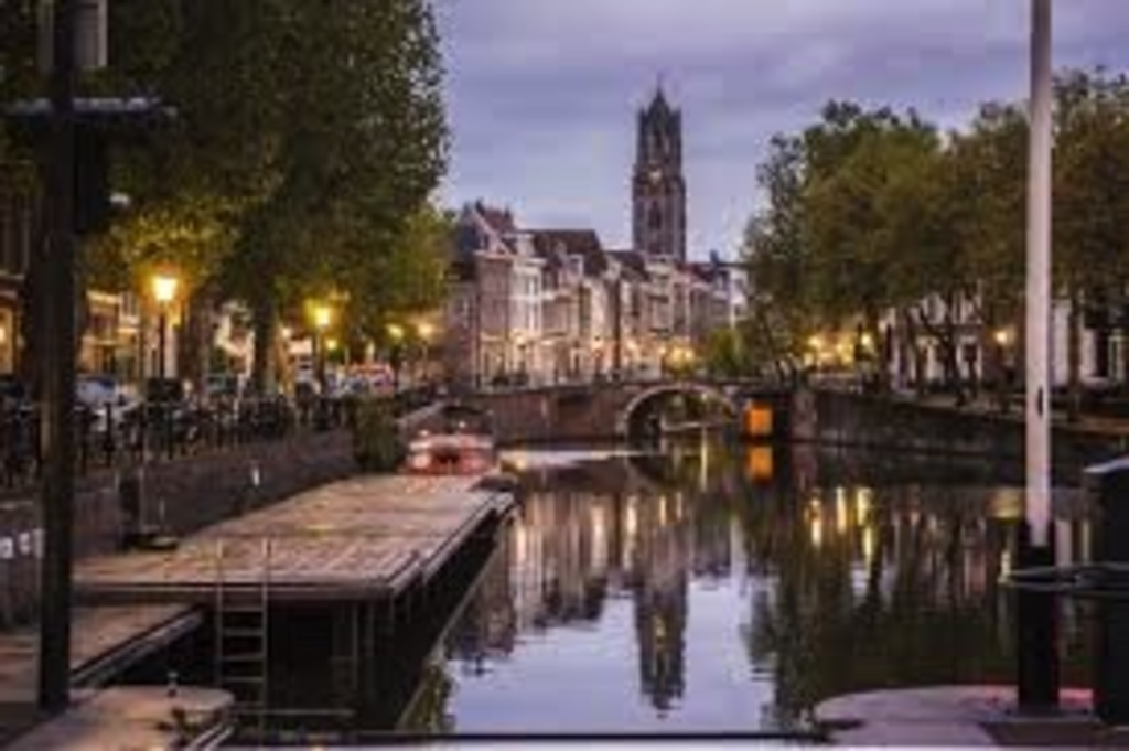 Domtower and the canals in Utrecht