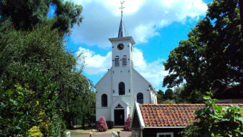 Little 17th century church Schellingwoude