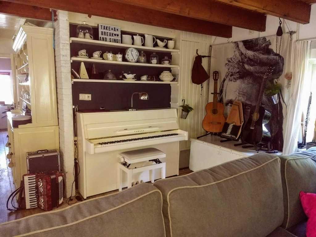 Muziekhoek in de kamer