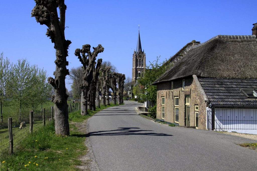 Our village Maasbommel with beautiful church