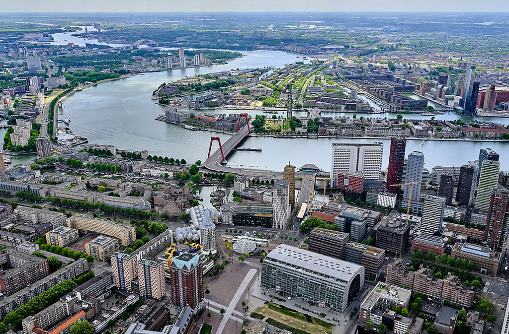 Rotterdam with its beautiful modern waterfront