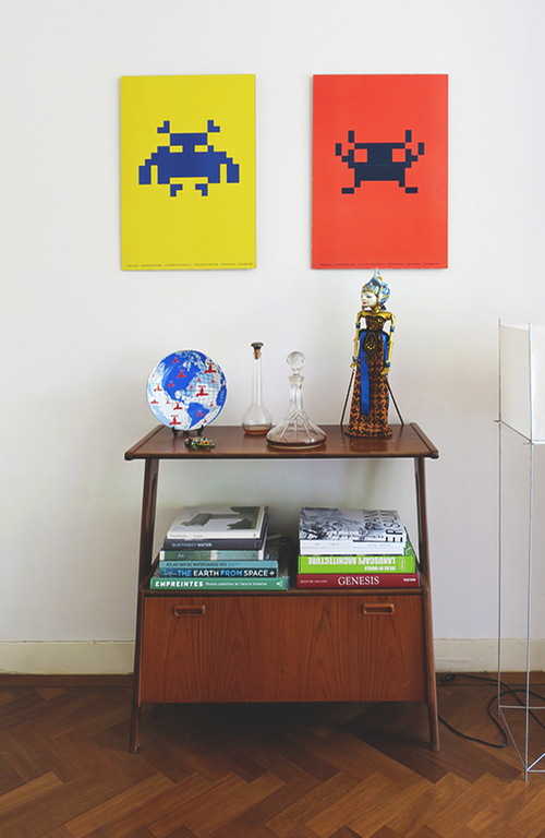 Cabinet + Space invaders