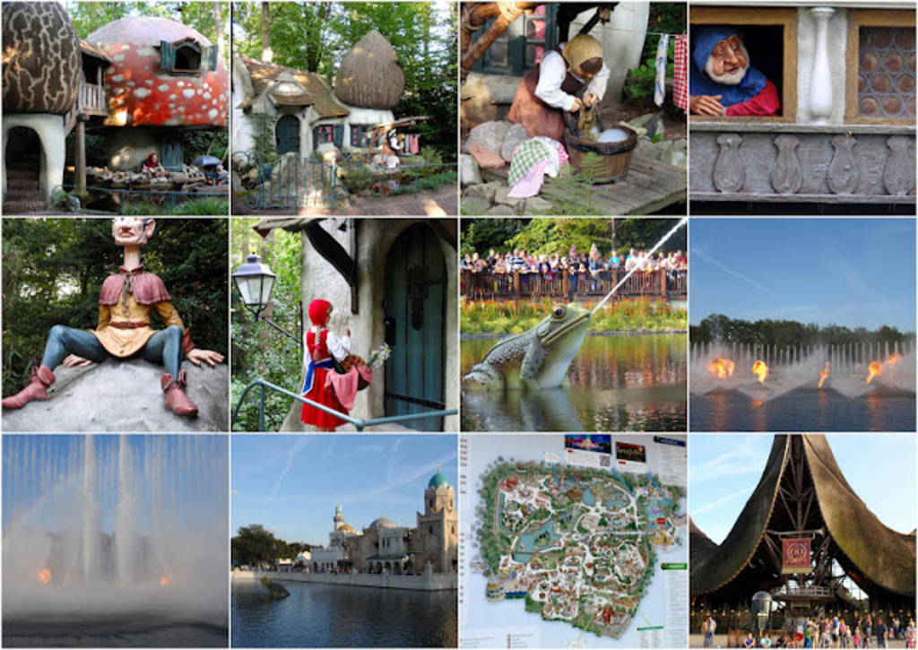 Like disneyland: The Efteling. Very cool for kids, but 30,- each