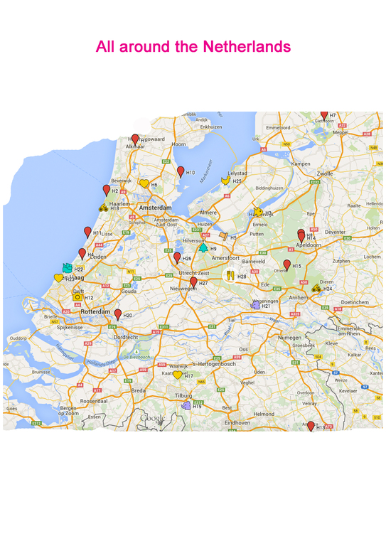 the map that comes with our 'bucketlist' for the Netherlands