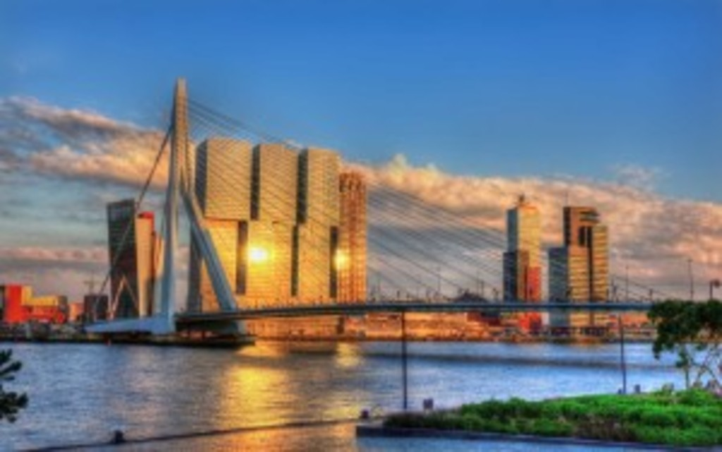 Erasmusbrug and De Rotterdam
