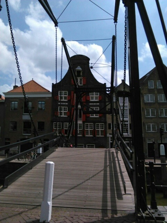 Dordrecht, one of the many bridges, 50 km away.