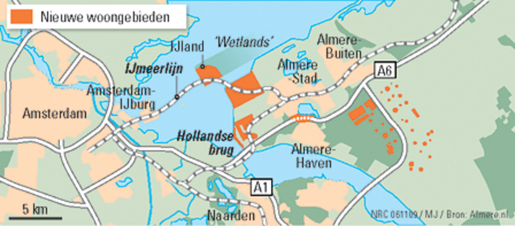 Almere, city east of Amsterdam. We live in Almere Buiten (eastside of Almere)