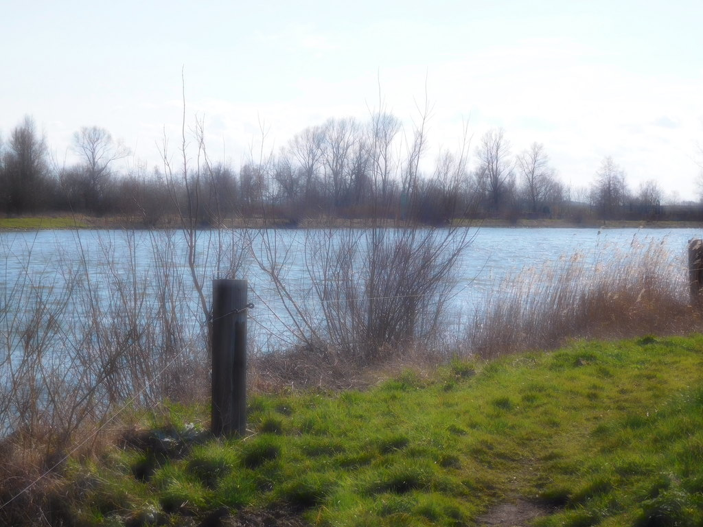 Walking in Wilsum along the river IJssel