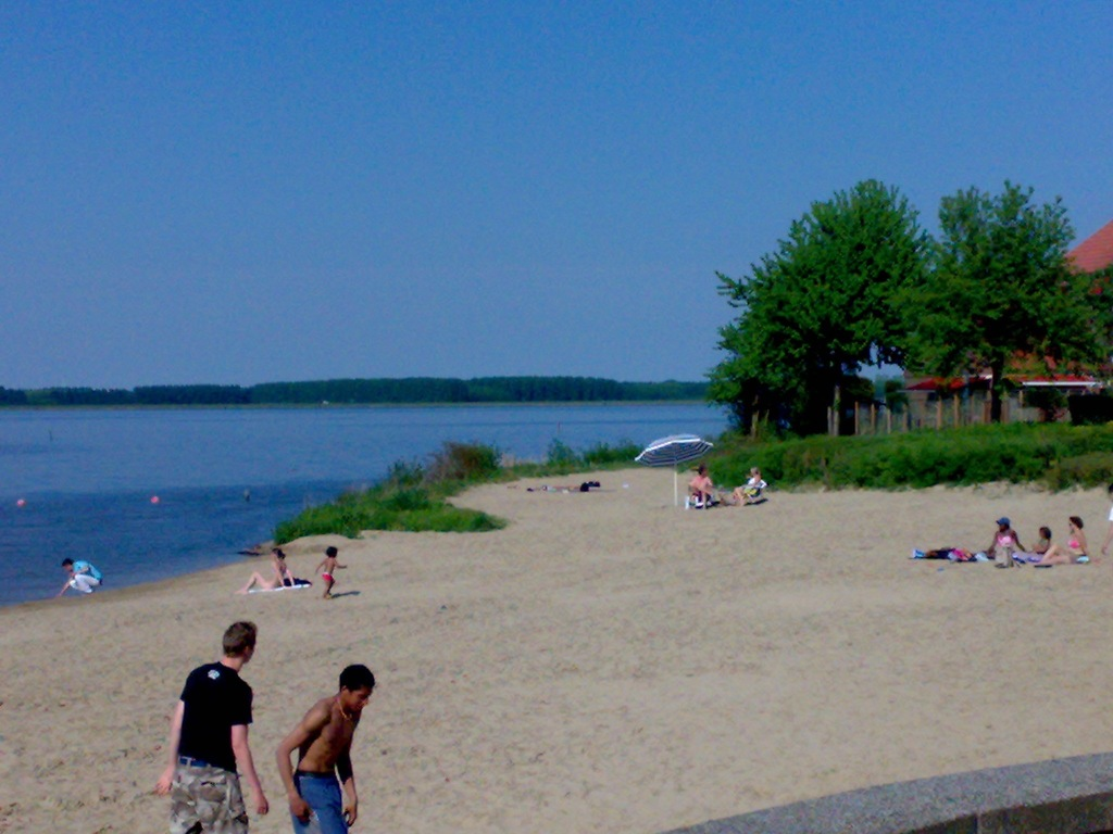 Beach of the lake.