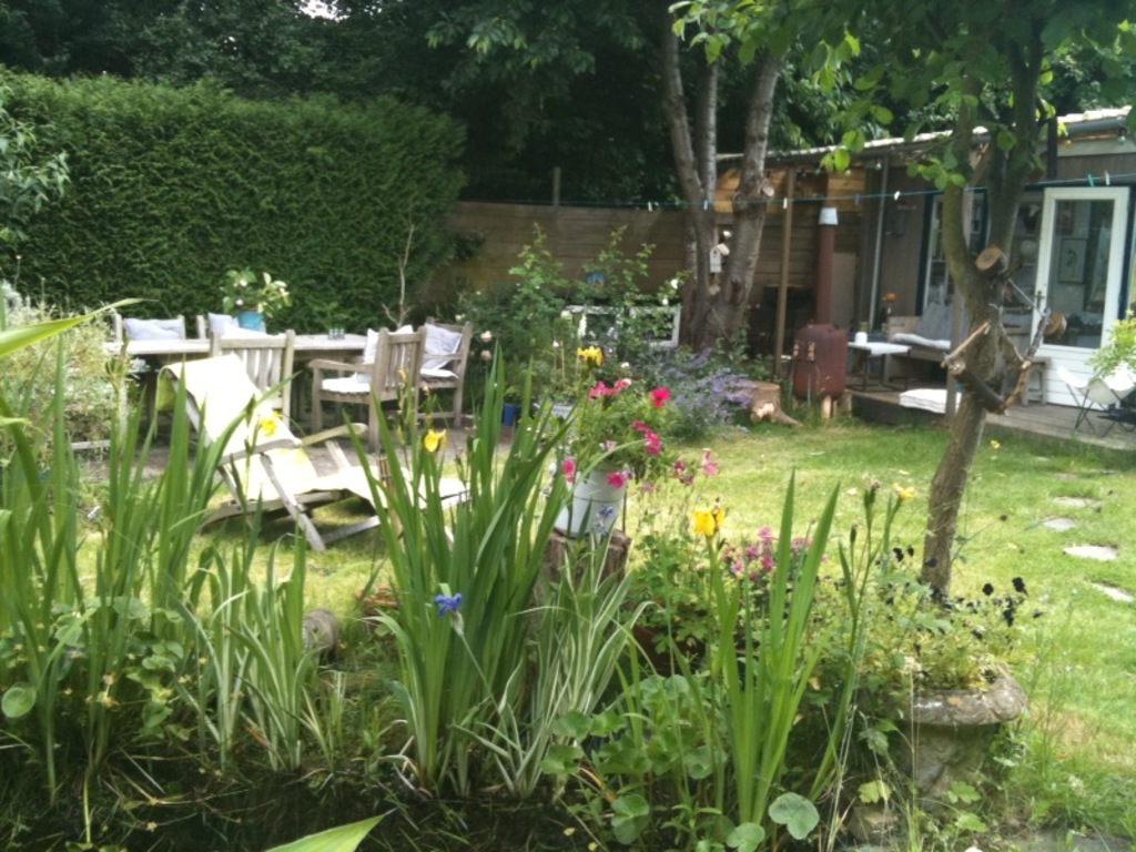 the garden with atelier