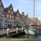 Stepped gables in historical harbour Hoorn