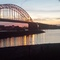 Famous historical bridge Nijmegen (WO II movie One bridge to far)