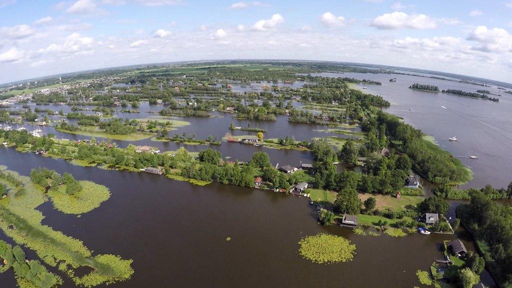 Water activities, like sailing, possible in Loosdrecht (10 km)