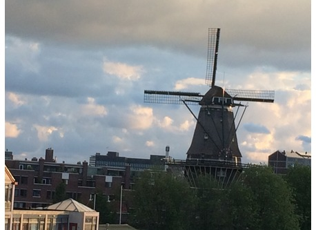 You can see this windmill 'De Gooyer' from the frontwindow