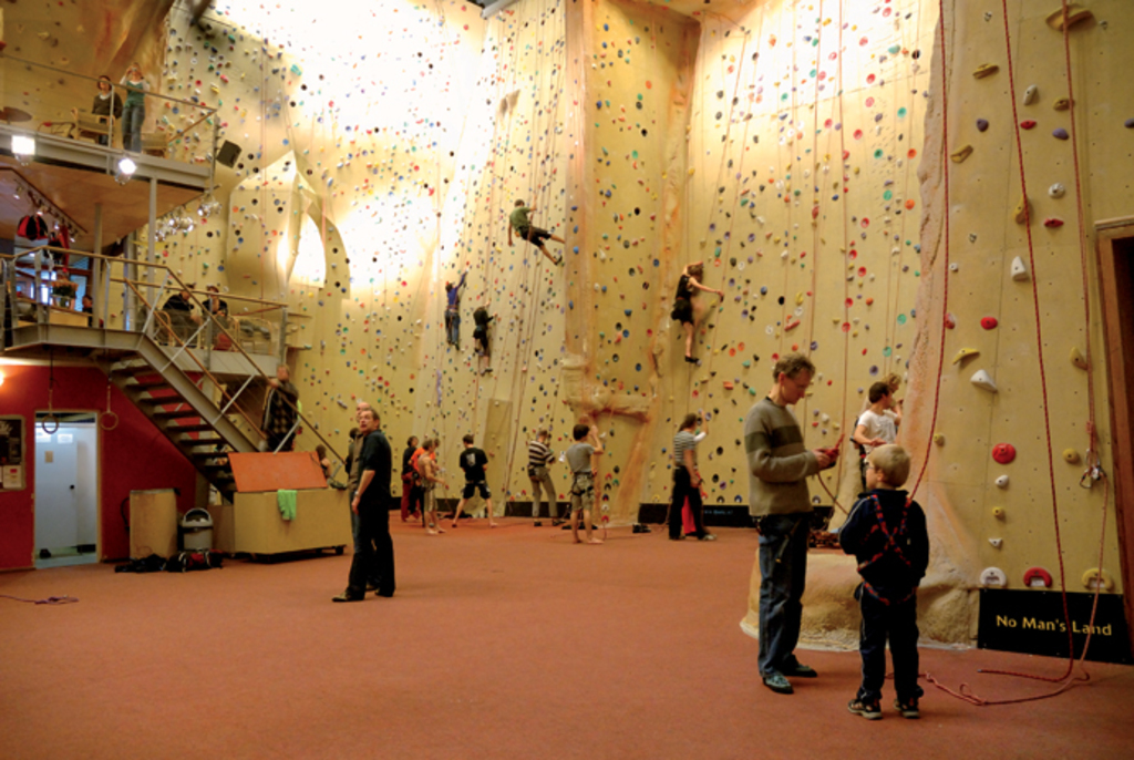 Interior of the Climbing Centre Bjoeks in Groningen
