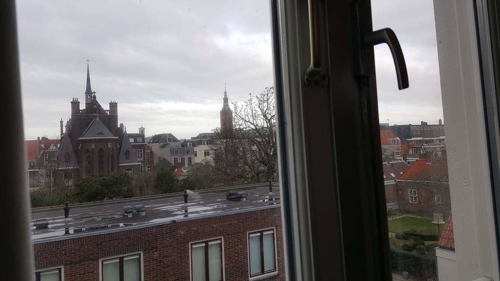 uitzicht slaapkamer 3e verdieping achter