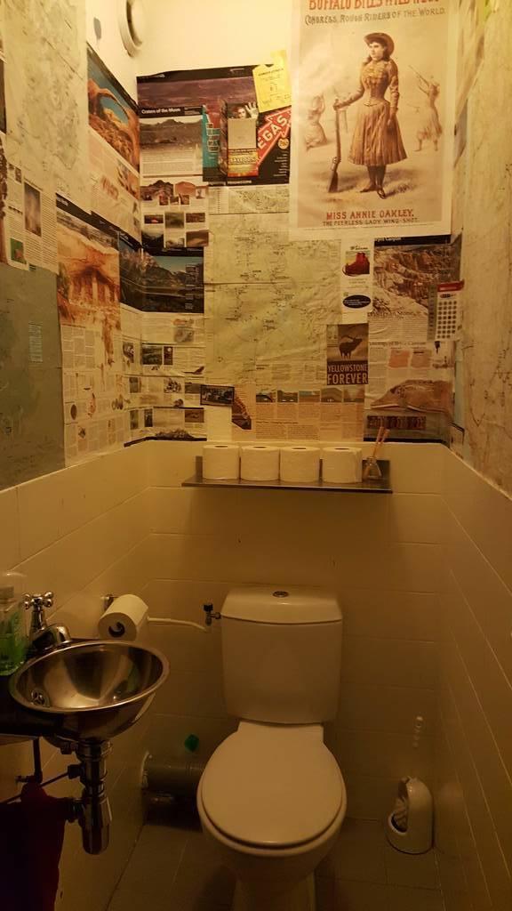 toilet 1e verdieping (indrukken van onze reis naar de VS)