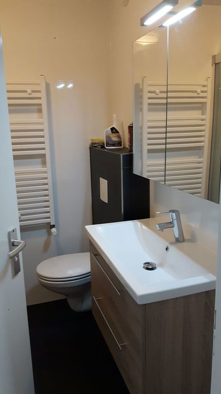 Our newly renovated bathroom with shower 2020