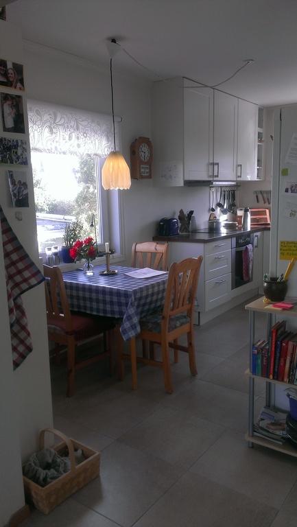 kitchen with warm floor