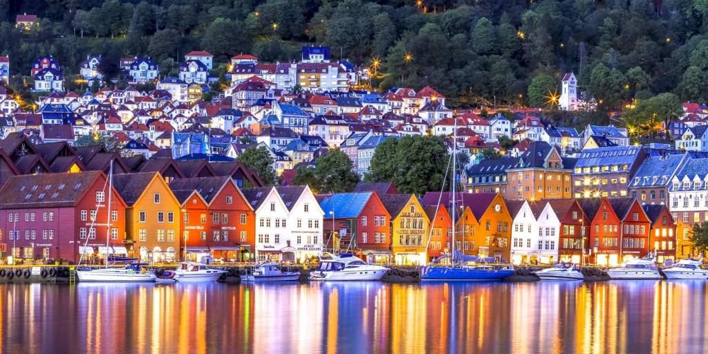 The Hanseatic harbour in Bergen