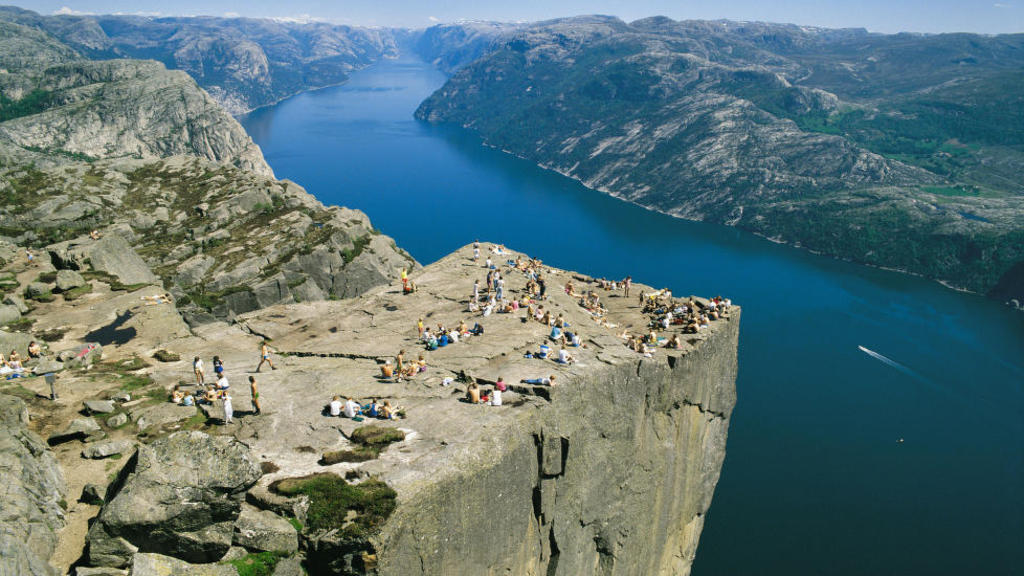 The Pulpit Rock (Preikestolen), the most famous tourist attraction in Ryfylke. 1,5 hour driving from our home