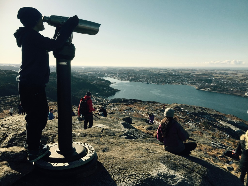 View of Sandnes from Dalsnuten, 10 minute drive and 1 hour hike from our house