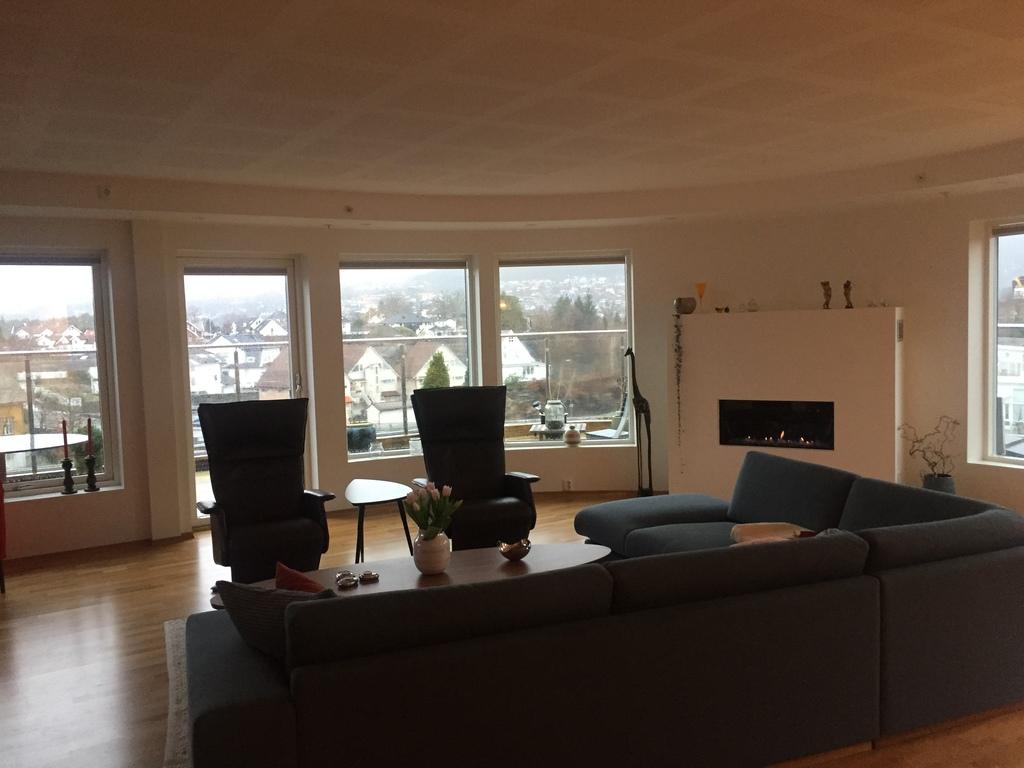 Living room overlooking terrace
