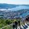 View of Bergen from mount Fløyen