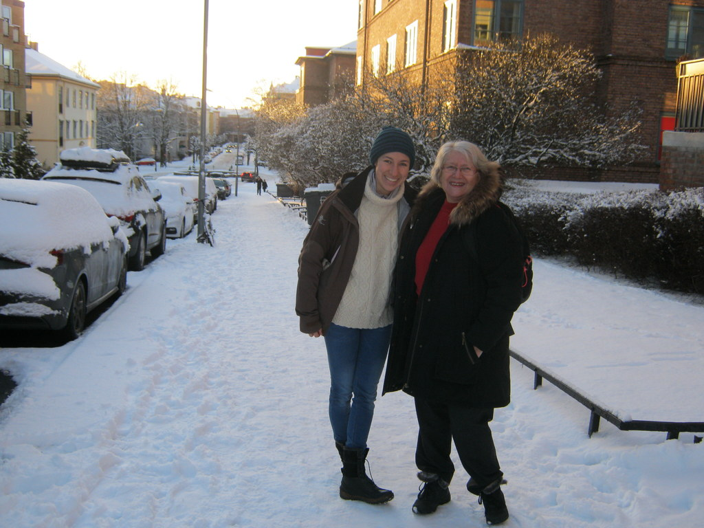 My daughter and I in our street