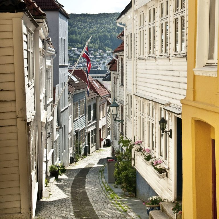 Nice to wander in the narrow streets of Bergen