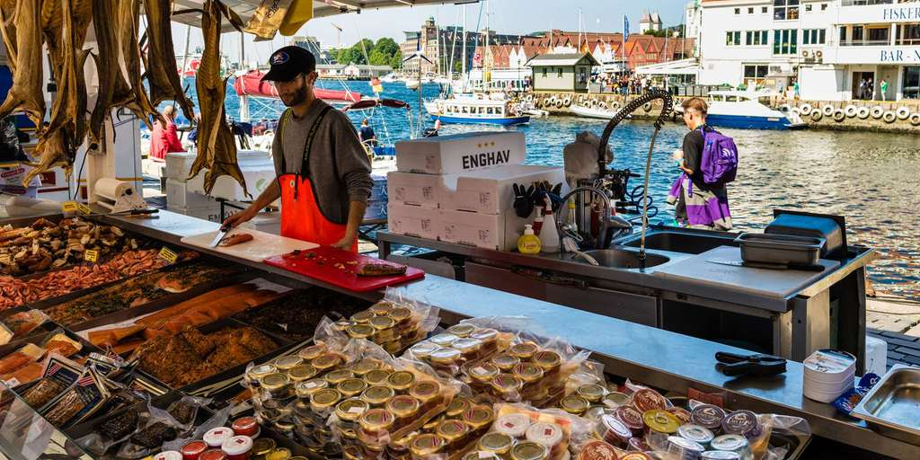 The fishmarket in Bergen